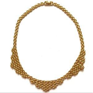 MONET Gold Woven Necklace Vintage